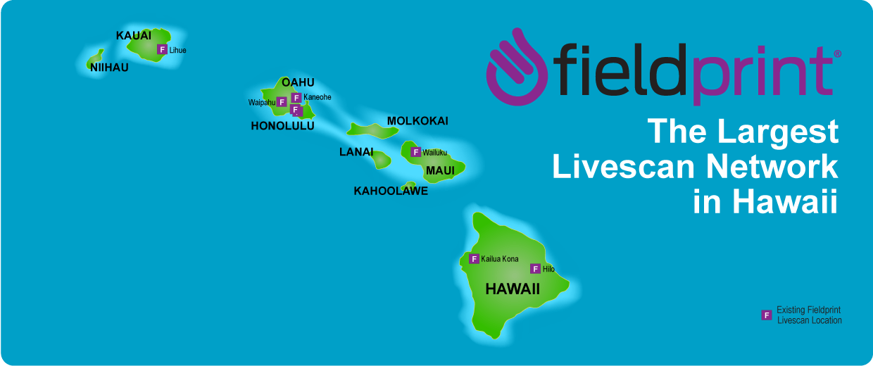 Hawaii's Livescan locations